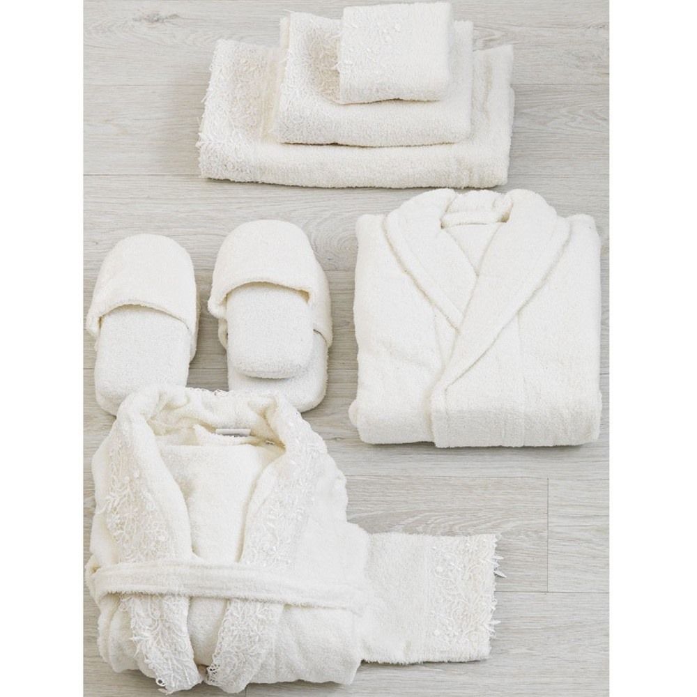 03b00dd894c Είδη Γάμου :: Νυφικά Σετ Πετσέτες :: Νυφικά Μπουρνούζια Σετ 12 Τεμ.  Palamaiki Wedding 2300 - White Line - Λευκά Είδη