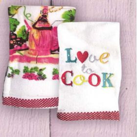 Ποτηρόπανα Σετ 2 τεμ. RYTHMOS Love to Cook
