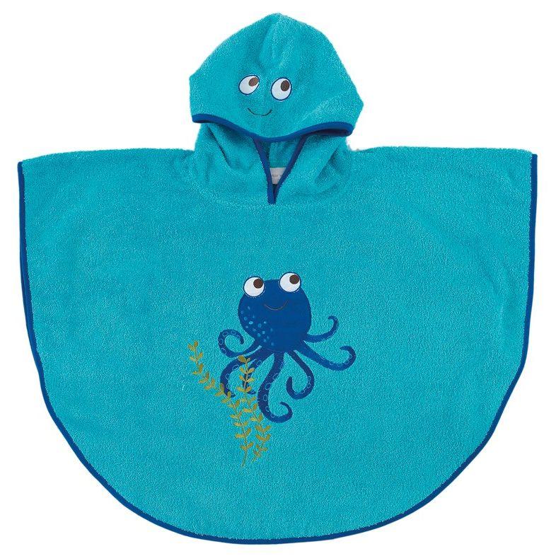 5f949789482 Παιδικά - Εφηβικά :: Μπουρνούζια Παιδικά :: Παιδικό Μπουρνούζι Πόντσο 2-4  Ετών Palamaiki Octopus - White Line - Λευκά Είδη