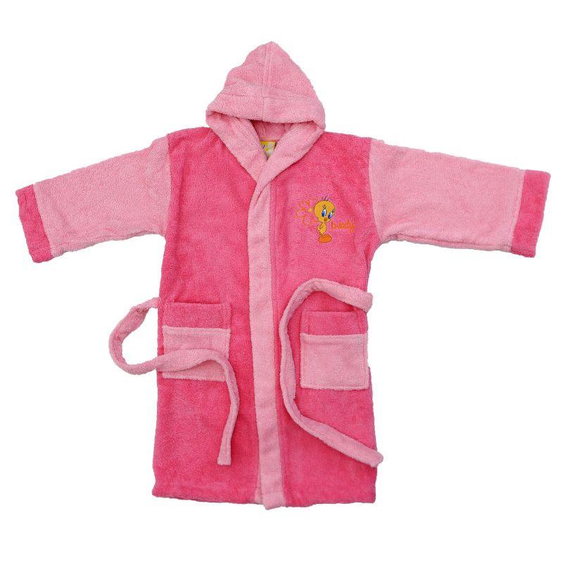 83edecd451d Παιδικά - Εφηβικά :: Μπουρνούζια Παιδικά :: Μπουρνούζι Παιδικό 3-14 Ετών  Viopros Σχ. Tweety - White Line - Λευκά Είδη